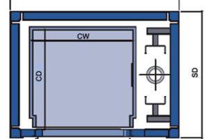 Axess goederenlift Nova Pro - plattengrond 1
