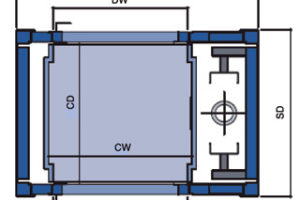 Axess goederenlift Nova Pro - plattengrond b1